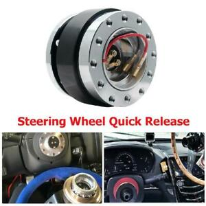 Car Steering Wheel Quick Release Hub Adapter Removable Snap Off Boss Kit Black