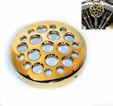 SOLID BRASS ROUND DRILLED AIR CLEANER FILTER COVER ONLY HARLEY BOBBER CHOPPER