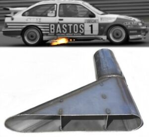 ★ NEW Stainless Steel Side Exit Exhaust Group A BMW Ford RS500 Cosworth Audi WRC