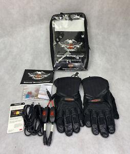 Harley Davidson Leather Heated Gloves Men's Size Medium