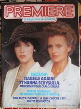 PREMIÈRE CINÉMA - Isabelle Adjani, Carlos Saura, Pink Floyd... - N°64 de 1982
