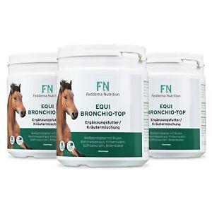 3 x Equi Bronchio Top-Pferde-Ergänzungsfutter für Bronchien und Atemwege mit Fic