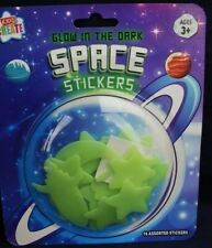 Glow in the Dark SPACE Stickers ROCKET MOON & STARS Bedroom Decoration Free Post