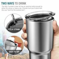 Stainless Steel Tumbler 30 oz Insulated Coffee  Travel Mug Lid Promotion Gift