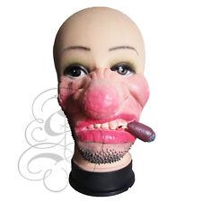 MEZZA faccia Comedy Funny People Cicatrice viso SIGARO Gallina Carnevale Prop fantasia lattice Maschera