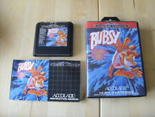 GENUINE SEGA MEGADRIVE GAME - BUBSY In Claws Encounters Of The Furred Kind