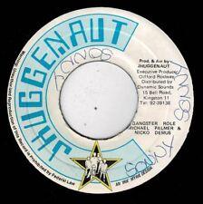 "MICHAEL PALMER & NICKO DEMUS-gangster role   jhuggenaut 7""    (hear)  reggae"
