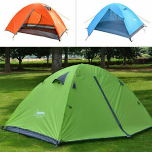 Waterproof 2 Person Double Layer Camping Tent 4 Seasons Breathable Ultralight