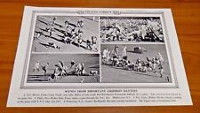 College Football 1937 Original Illustrated Current News 19x12 Great Condition