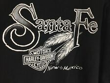 Harley Davidson Stratman Hanes Beefy T Tag Santa Fe New Mexico Spell-Out XL
