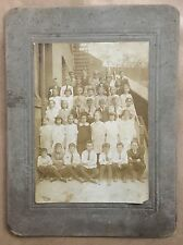 Vintage Black Boy All White Class Early Integration Cabinet Card Black Americana