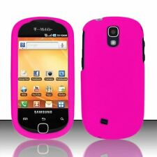 Hard Rubberized Case for Samsung Gravity Smart T589 - Rose Pink