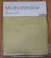 """MARTH STEWART WINDOW ROD-POCKET SHEER PANEL, """"VOILE"""", PARSNIP, 60""""X84"""""""