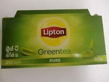 "Ceylon Green Tea Pure Natural ""LIPTON "" Tea from Sri Lanka. 20  Bags  x 1.5g"