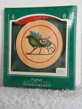 FATHER - SLEIGH - WOODEN - HALLMARK KEEPSAKE ORNAMENT - DATED 1985
