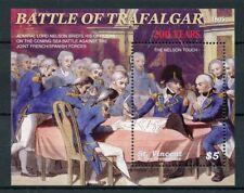 St Vincent & Grenadines 2005 MNH Battle of Trafalgar 1v S/S I Nelson Stamps