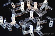 20 Mini Winkel Halter Wellenhalter 90° Modellbau Heimwerker 15x10 mm Halterung