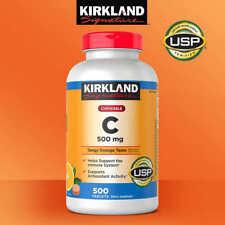 Kirkland Signature Chewable Tangy Orange Taste Vitamin C 500 mg., 500 Tablets