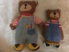 Lot of 2: Vintage Cloth Handmade dad boy father/son Stuffed � Bears