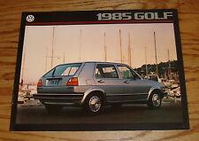 Original 1985 Volkswagen VW Golf Sales Brochure 85