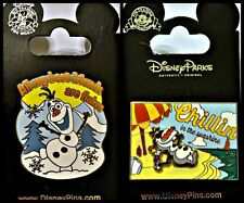 Disney Parks 2 Pin Lot FROZEN Olaf friends are flakes + Chillin in the Sunshine
