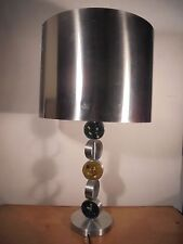 Luminaire Vintage 70 Sublime Lampe Design Acier Brossé Verre Édition RAAK