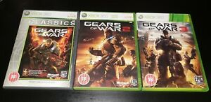 Gears of War Trilogy (1 2 & 3) Game Collection Xbox 360 Games Bundle
