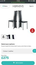 6 Harvey's Black Noir Dining Room Chairs