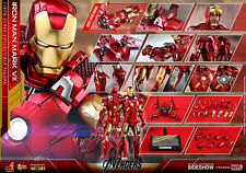 HOT TOYS MARVEL AVENGERS IRON MAN MARK VII 7 1:6 DIECAST FIGURE ~In Sealed Box~