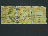 "(4-scan)..Canada ""Peter Street Toronto"" SON Cancel/cds, 1872 small Queen QV, #35"