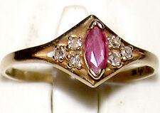 Beautiful .42 Caret Ruby & .09 CTW Diamond 10K Yellow Gold Ring