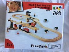 PlanToys Road & Rail Play Set - Transportation - 6214