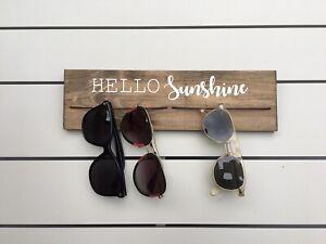 Sunglasses Hanger,Sunglass rack,Rustic,Wall organiser,Hello sunshine,sunglasses