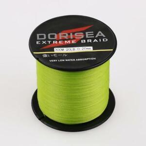 Dorisea 6lb~300lb Fluorescent Green Braided Fishing Line 100m 300m 1000m 2000m