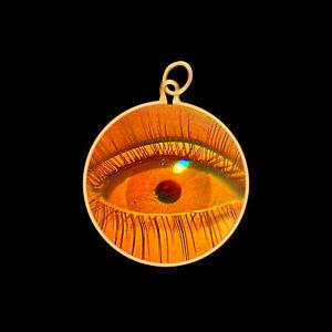 9ct Gold Hologram Pendant - Eye 2 (Small) - No Chain