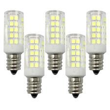 5pcs E12 Candelabra C7 64-2835 Led Light Ceiling Fans Bulb Ceramics Lamp Lights