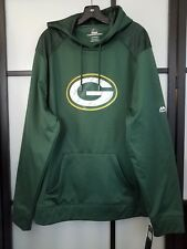 Majestic Green Bay Packers Green Line of Scrimmage Pullover Hooded Sweatshirt 2X