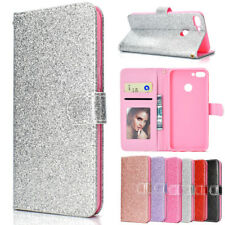 For Huawei Y6/Y7 prime 2018/ Nova 2 Lite Glitter Bling Leather Wallet Case Cover