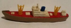 Tootsietoy WWII Navy Cargo Ship Diecast Military Boat Cast Hull On Wheels