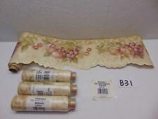 WALL PAPER WALLPAPER BORDER ROSEDALE NRB 4995 BEIGE FRUITS 4 ROLLS 20 YARDS
