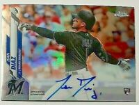 2020 Topps Chrome Rookie Signatures Refractor Isan Diaz Rc Auto #157/499 Marlins