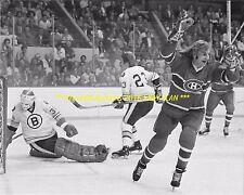 Guy Lafleur Scores Goal w/Crazy Long Hair 8x10 Photo Montreal Canadiens Hof~@