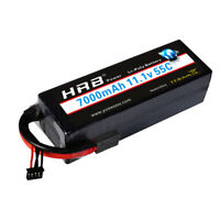 HRB 3S 11.1V 7000mAh Lipo Battery 55C Hardcase for 1/10 Traxxas Car Truck 3S2P