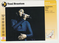 TONI BRAXTON Pop Singer Musician Photo 1997 GROLIER STORY OF AMERICA CARD 117-18