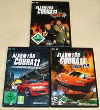 3 PC Giochi Set-allarme per Cobra 11-Burning WHEELS Highway Nights Crash Time