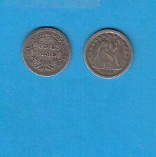+Gertbrolen+  ETATS-UNIS 10 Cents 1852 Liberty Seated Silver