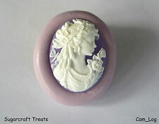 Cameo Lady 4 Flexible Silicone Mould Sugarcraft Cup Cake Topper Fimo Chocolate