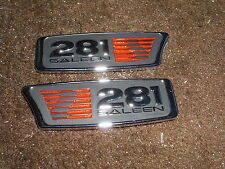 1999 2000 01 02 03 2004 FORD MUSTANG SALEEN S281 S-281 FRONT FENDER EMBLEMS PAIR