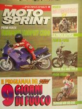 Motosprint 49 1991 Honda CB-1 400 Type II - Test Enduro Yamaha WR125-250