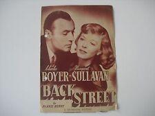 Original Movie Film Program Back Street 1941. Programa de mano, cine.